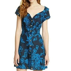 Free People navy floral dress